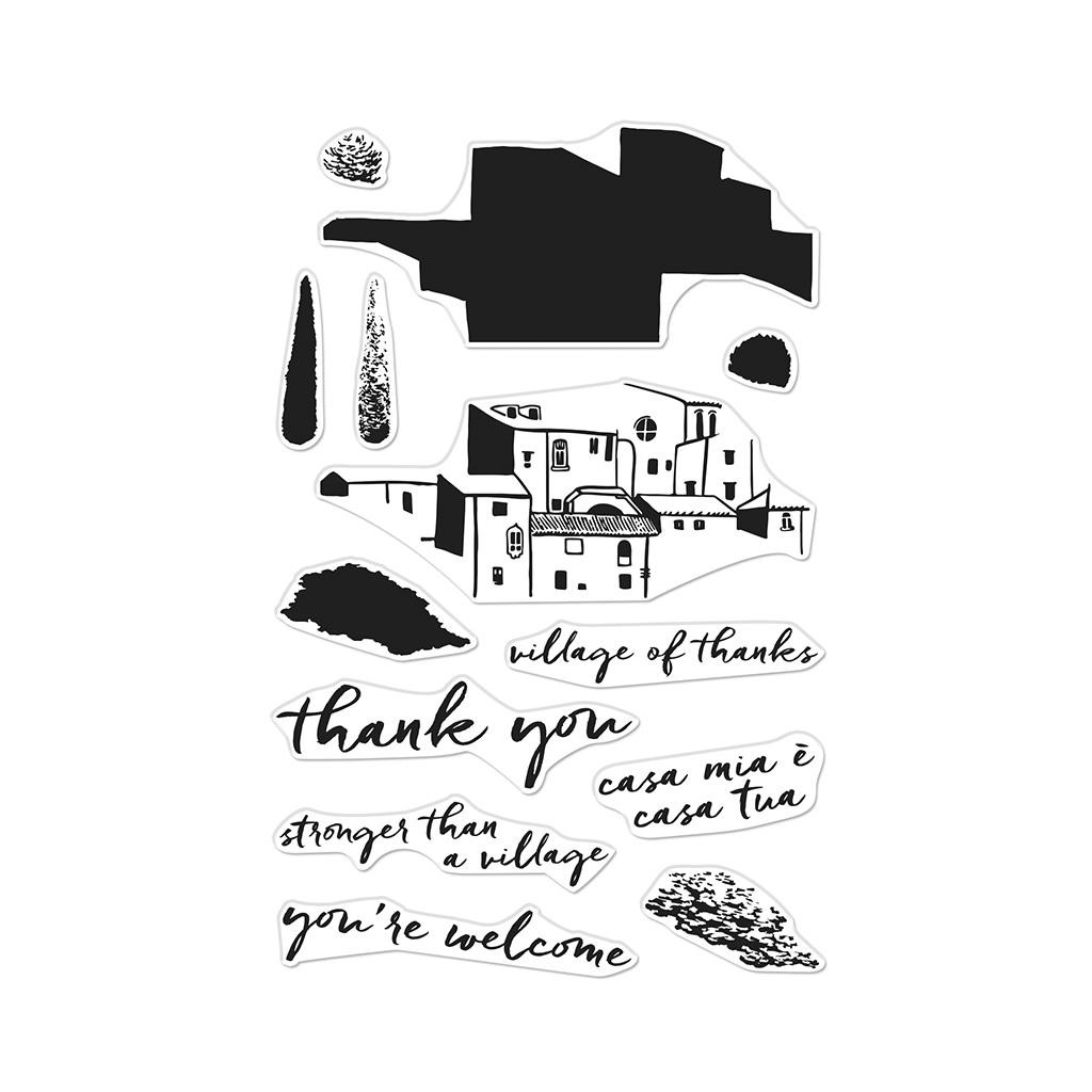 Color Layering Village, Hero Arts Clear Stamps - 857009216648