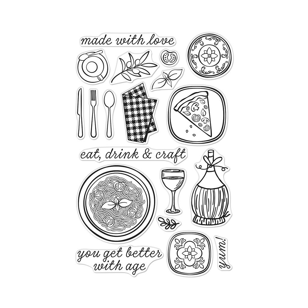 Italian Table, Hero Arts Clear Stamps - 857009217256