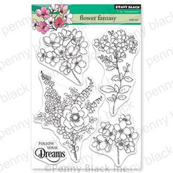 Flower Fantasy, Penny Black Clear Stamps - 759668305650
