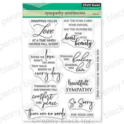 Sympathy Sentiments, Penny Black Clear Stamps - 759668305827