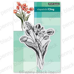 Blooming Tulips, Penny Black Cling Stamps - 759668406838