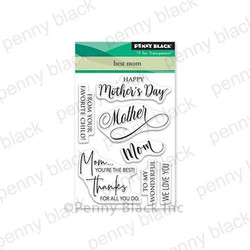 Best Mom, Penny Black Clear Stamps - 759668305841