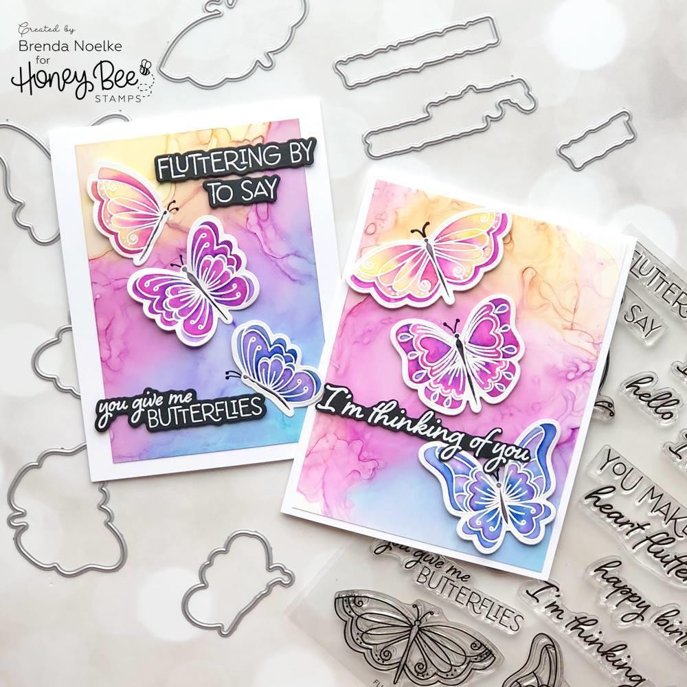 Fluttering By, Honey Bee Clear Stamps - 652827606325