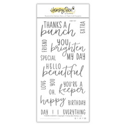 Thanks A Bunch, Honey Bee Clear Stamps - 652827606349