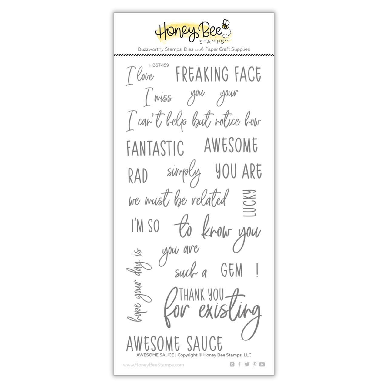 Awesome Sauce, Honey Bee Clear Stamps - 652827606363