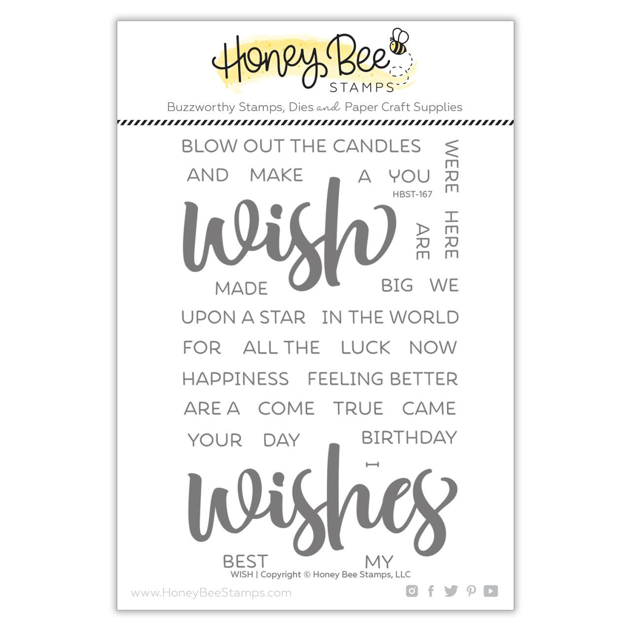 Wish, Honey Bee Clear Stamps - 652827606479