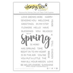 Spring, Honey Bee Clear Stamps - 652827606509
