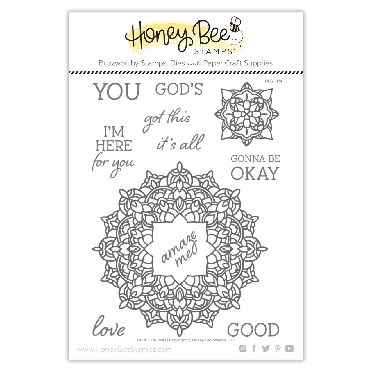 Here For You, Honey Bee Clear Stamps - 652827605694