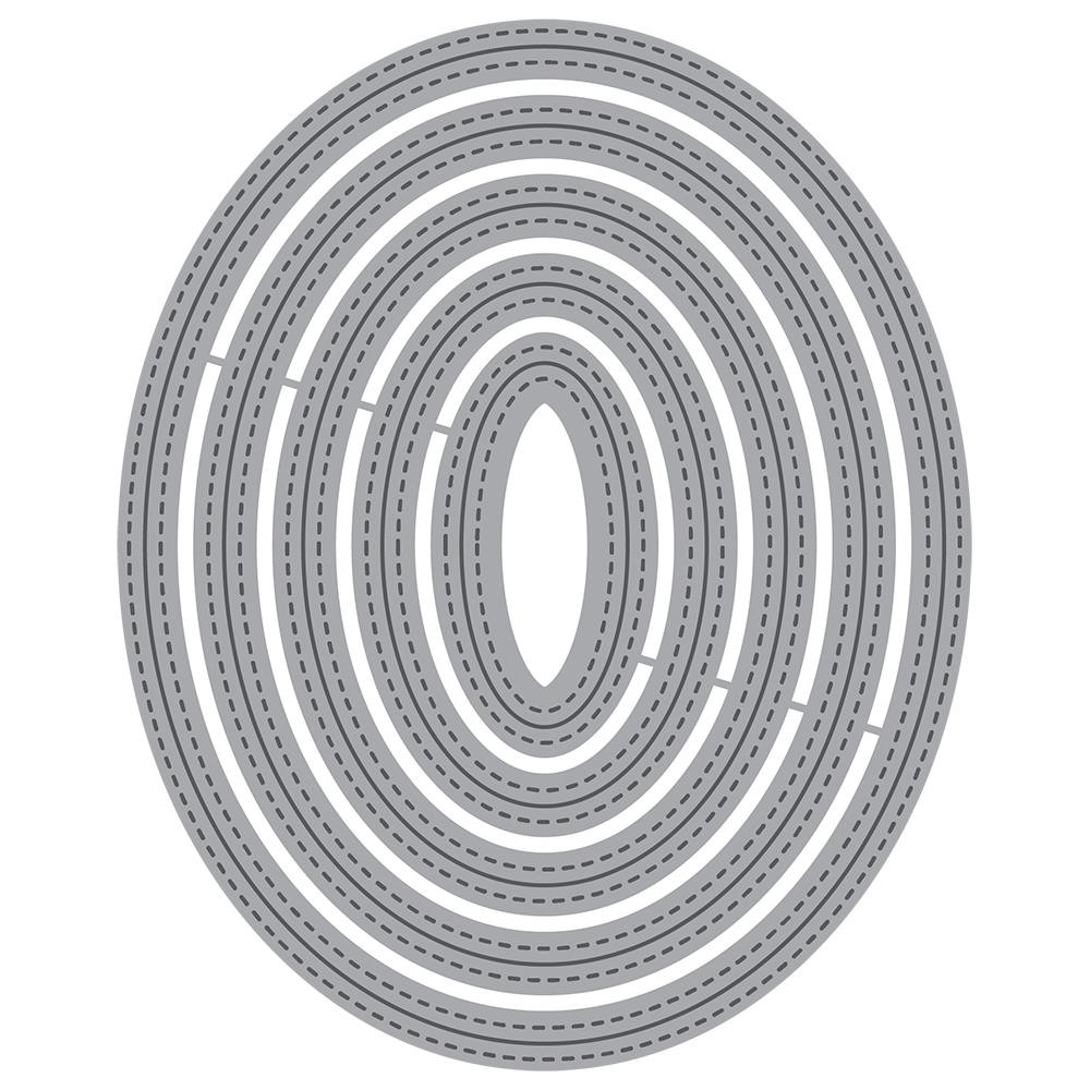 Double Stitched Ovals, Honey Cuts Dies - 652827606264