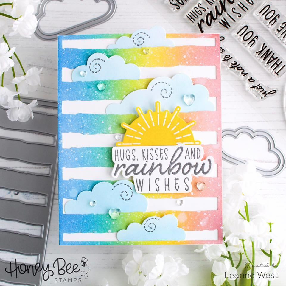 Watercolor Lines Coverplate, Honey Cuts Dies - 652827606318