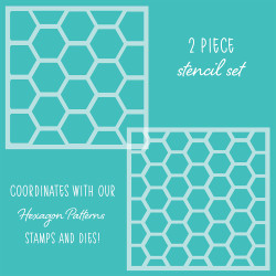 Hexagon Patterns, Honey Bee Stencils - 652827605717
