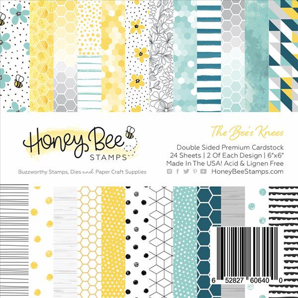 The Bee's Knees, Honey Bee 6 X 6 Paper Pad - 652827606400