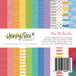 Over The Rainbow, Honey Bee 6 X 6 Paper Pad - 652827606417