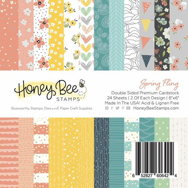 Spring Fling, Honey Bee 6 X 6 Paper Pad - 652827606424