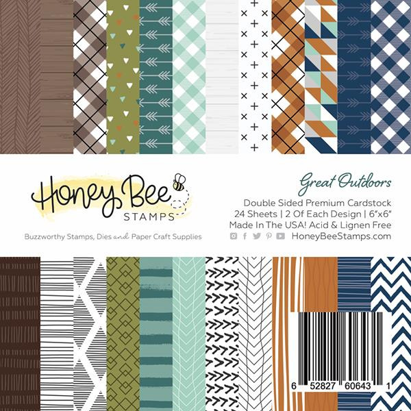Great Outdoors, Honey Bee 6 X 6 Paper Pad - 652827606431