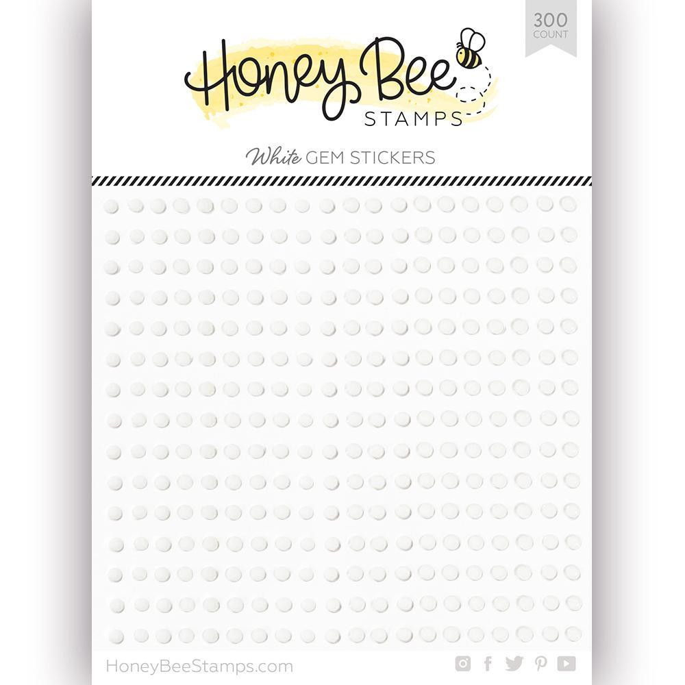 White Gem, Honey Bee Stickers -