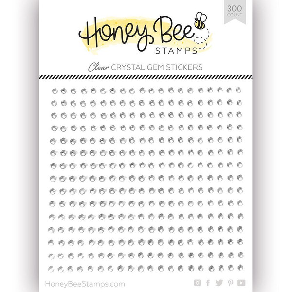 Crystal Clear Gem, Honey Bee Stickers -