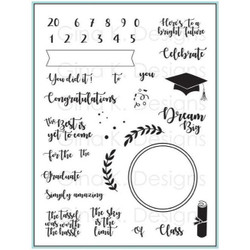 For The Grad, Gina K Designs Clear Stamps - 609015541555