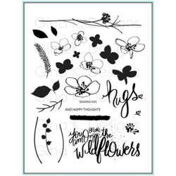 Hugs and Wildflowers, Gina K Designs Clear Stamps - 609015541548