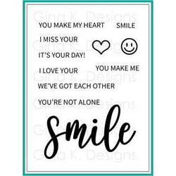 Smile, Gina K Designs Clear Stamps - 609015541500
