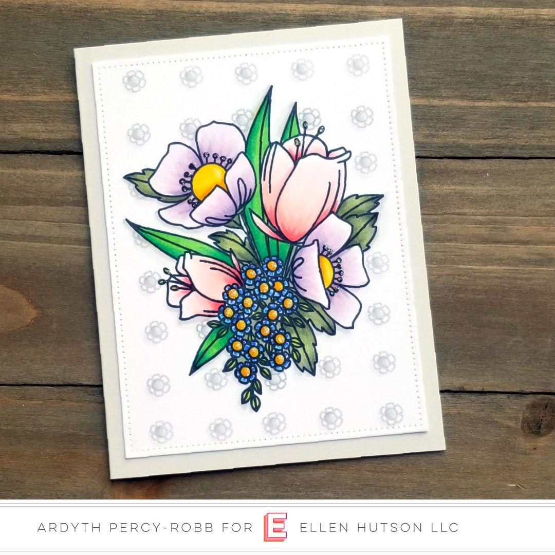 Mondo Wildflowers by Brandi Kincaid, Essentials by Ellen Clear Stamps -
