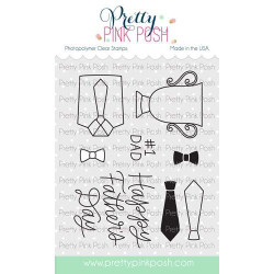 Father's Day, Pretty Pink Posh Clear Stamps -