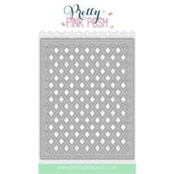 Lattice Background, Pretty Pink Posh Dies -