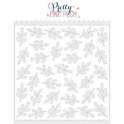 Leaves, Pretty Pink Posh Stencils -