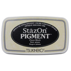 Piano Black, StazOn Pigment Ink Pad - 712353830318