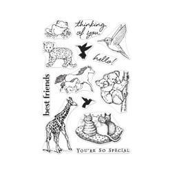 From The Vault: Realistic Animals, Hero Arts Clear Stamps - 857009217942
