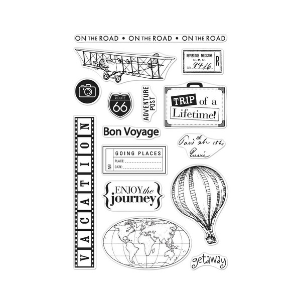 From The Vault: Travel, Hero Arts Clear Stamps - 857009218178