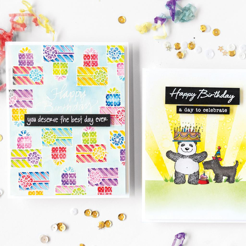 From The Vault: Birthday, Hero Arts Clear Stamps - 857009218314