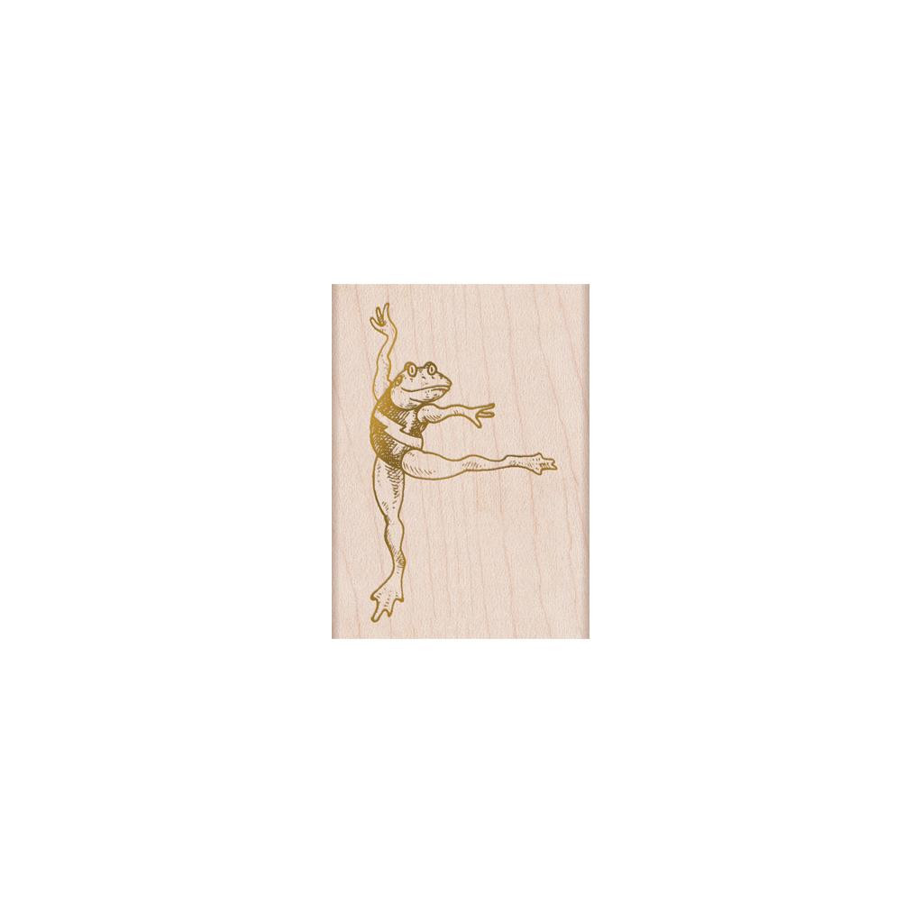From The Vault: Dancing Frog, Hero Arts Wood Block Stamps - 857009223646