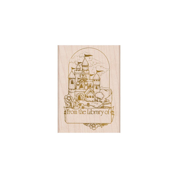 From The Vault: Castle Book Plate, Hero Arts Wood Block Stamps - 857009224186