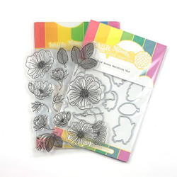 Wild Roses, Waffle Flower Stamp & Die Combo - 644216555222