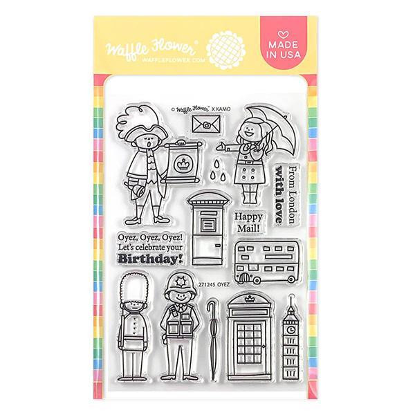 Oyez, Waffle Flower Clear Stamps - 644216553129
