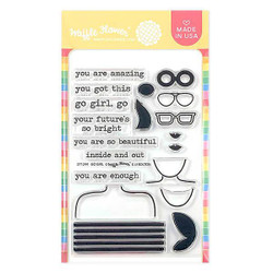 Go Girl, Waffle Flower Clear Stamps - 644216553020