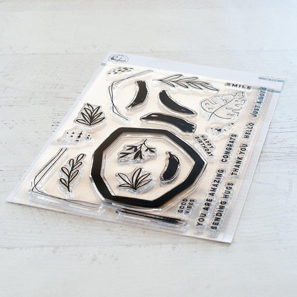 Abstract Builder, Pinkfresh Studio Clear Stamps - 782150201451