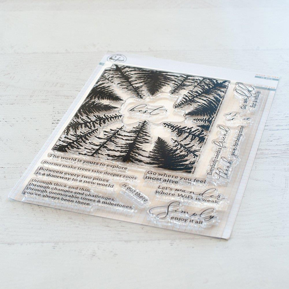 Through The Trees, Pinkfresh Studio Clear Stamps - 782150201468