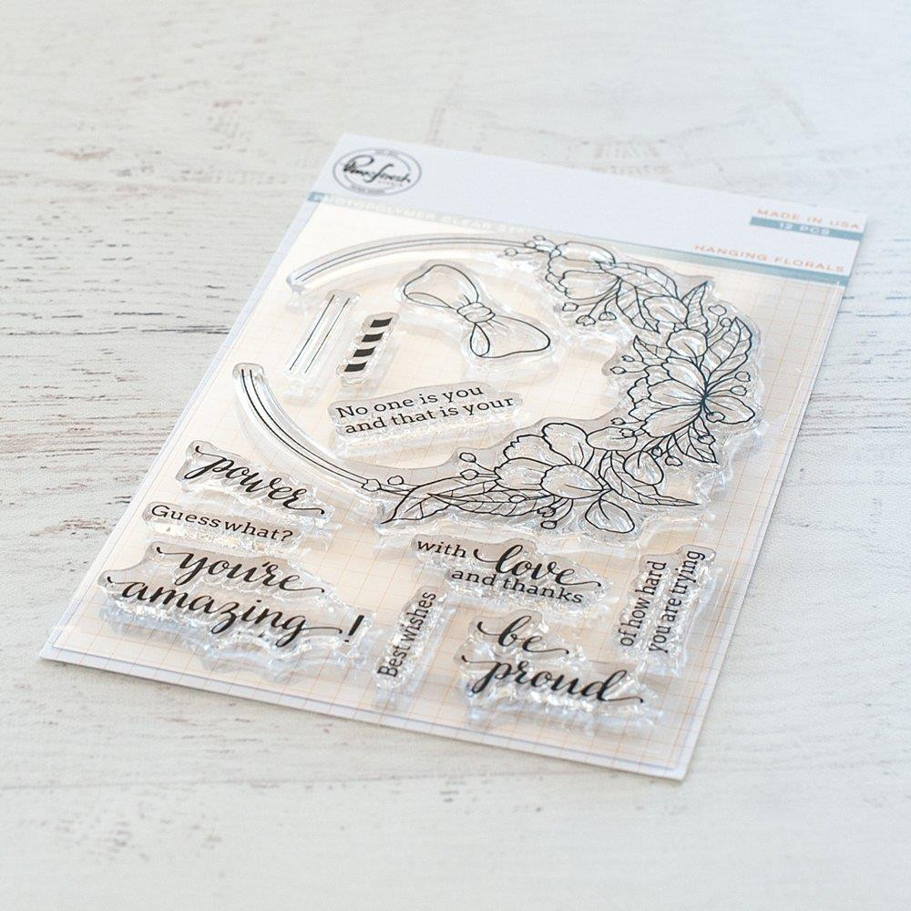 Hanging Florals, Pinkfresh Studio Clear Stamps - 782150201512