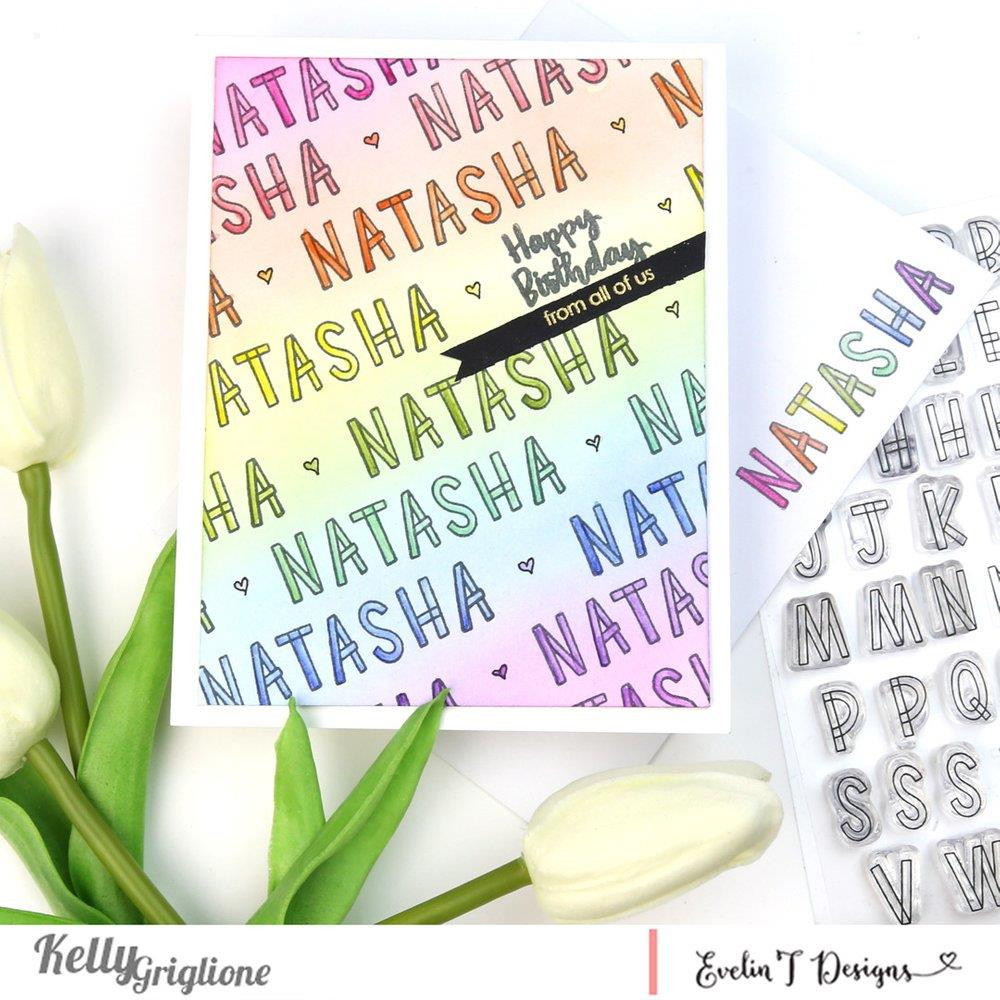 Alpha Blocks, Evelin T Designs Clear Stamps - 782150205398
