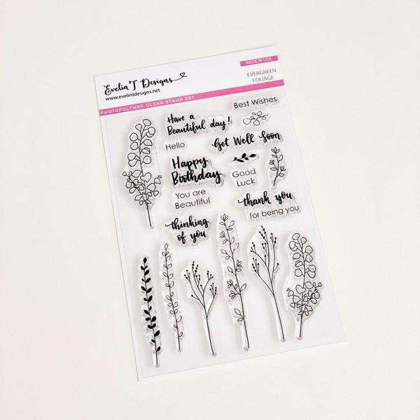 Evergreen Foliage, Evelin T Designs Clear Stamps - 782150205404