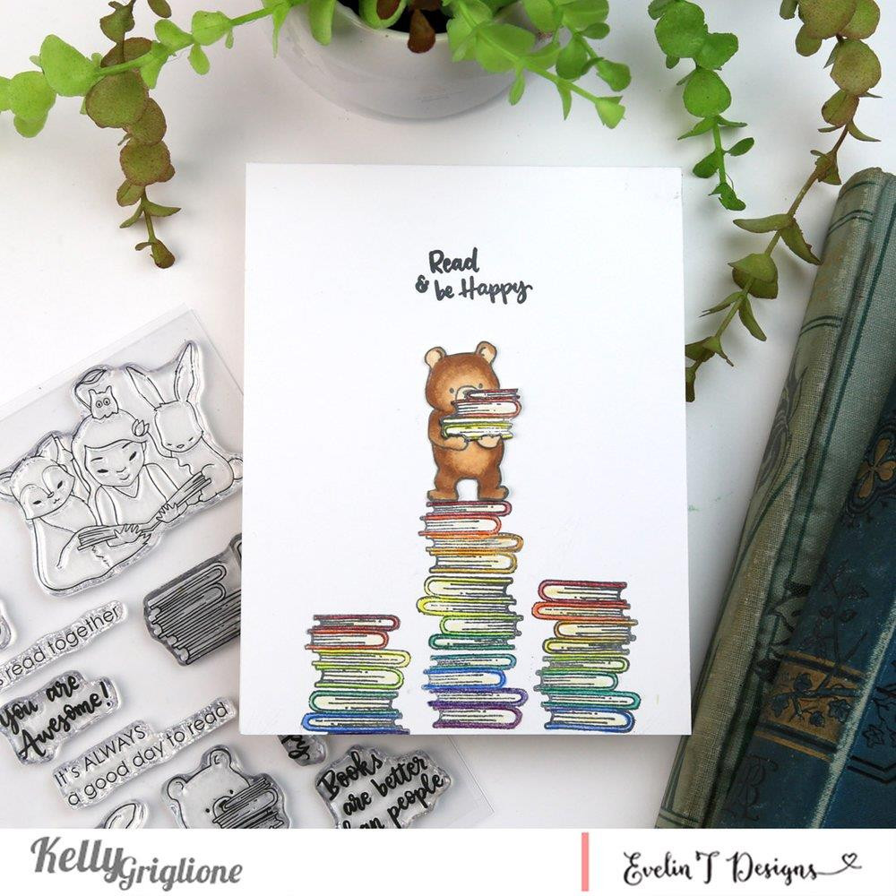 Reading Buddies, Evelin T Designs Clear Stamps - 782150205435
