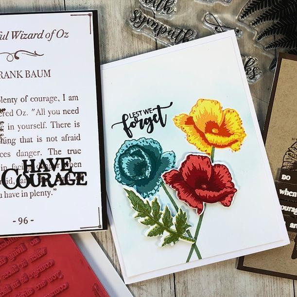 Poignant Poppies, Catherine Pooler Clear Stamps - 819447020959