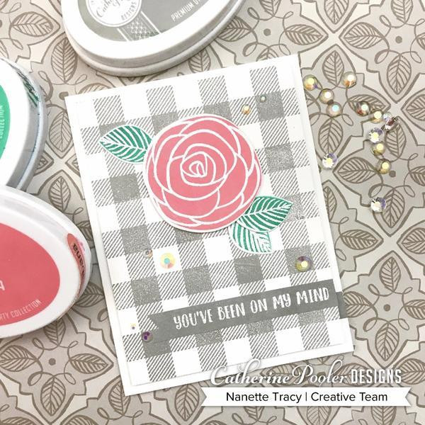Buffalo Plaid Background, Catherine Pooler Cling Stamps - 819447023509