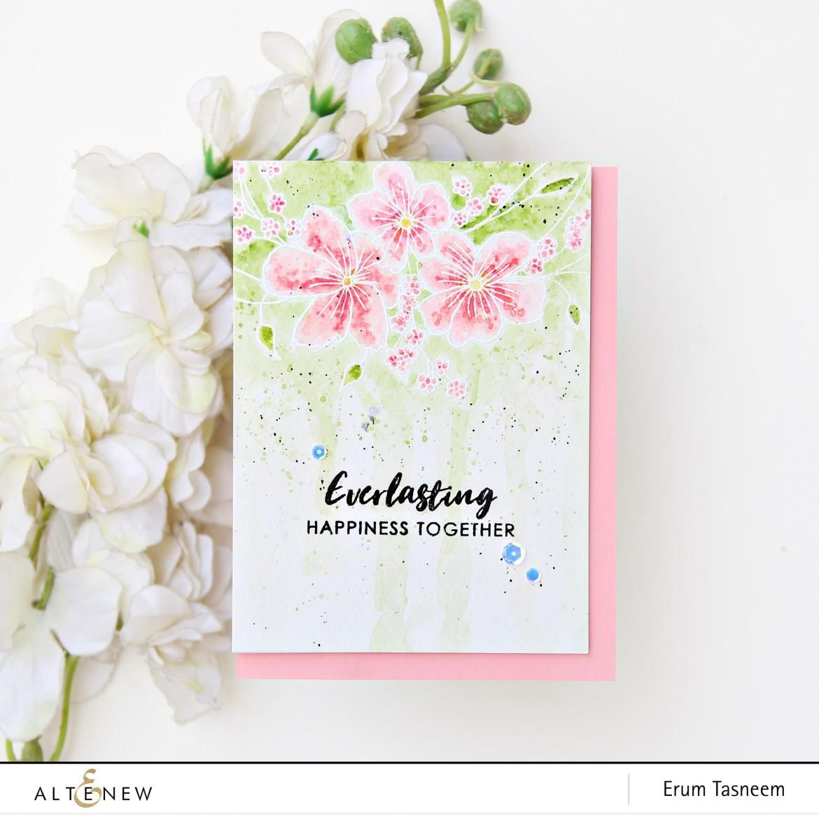 Everlasting Happiness, Altenew Clear Stamps - 7.04831E+111