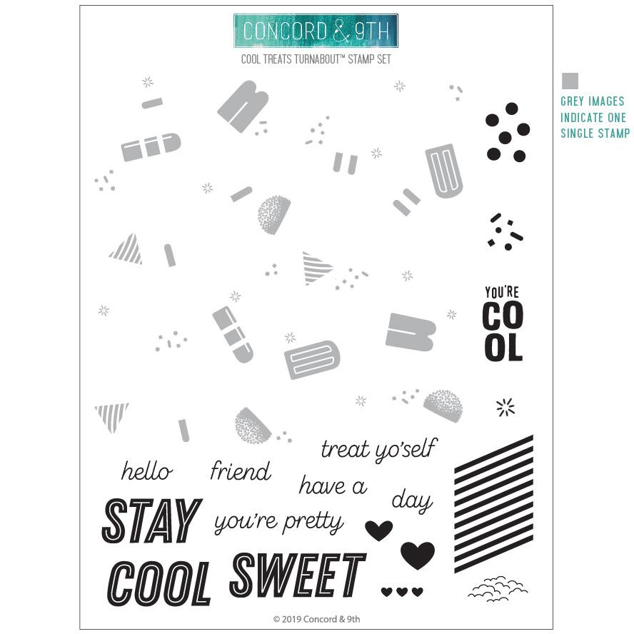 Cool Treats Turnabout, Concord & 9th Clear Stamps - 902224002900
