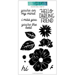 Filled In Florals, Concord & 9th Clear Stamps - 902224002764