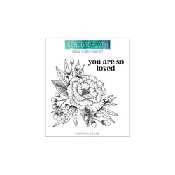Vintage Flower, Concord & 9th Clear Stamps - 902224003754