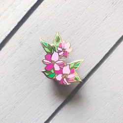 Flowers for Her - Bright Pink, The Gray Muse Enamel Pins -